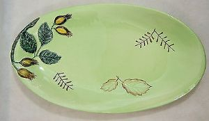 Carlton Ware Embossed 'Hazel Nut' Large Oval Serving Dish - 1950s